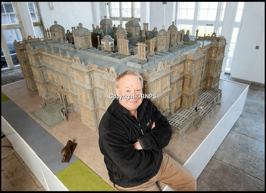 BNPS.co.uk (01202 558833)<br /> Pic: PhilYeomans/BNPS<br /> <br /> Modelmaker Kim Ward(60).<br /> <br /> This stunning model of one of Britain's finest stately homes has been painstakingly restored after languishing in a store room for the last seven years.<br /> <br /> The 1/25 scale model of Longleat House in Wiltshire was commissioned by the 6th Marquess of Bath in 1988 and went on display in the 16th Century mansion's butchery.<br /> <br /> But it was broken up into 50 pieces and put into storage when the home underwent renovations several years ago.<br /> <br /> Kim Ward, 60, and his six man team have spent the past two months restoring the model to its former glory.