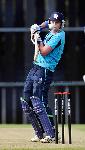 Scotland V Pakistan ODI - at Reaburn Place (Grange CC) Edinburgh - Scotland's Rob Taylor - picture by Donald MacLeod - 17.05.13 - 07702 319 738 - clanmacleod@btinternet.com - www.donald-macleod.com