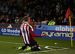 Caolan Lavery of Sheffield Utd celebrates his goal during the English League One match at Bramall Lane Stadium, Sheffield. Picture date: December 10th, 2016. Pic Simon Bellis/Sportimage