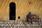 """Domenico Fiore at the holiday farmhouse """"Terre di Corleone"""", which once used to be one of Totò Riinas private properties. Here you can either stay over for the night or just remain for lunch, enjoying the magnificent view of the nature reserve of Gorgo del Drago. / Domenico Fiore all'Agriturismo Terre di Corleone, ricavato da una delle case che erano di proprietà di Totò Riina. Qui si può sia soggiornare che pranzare, godendo della magnifica vista della Riserva naturale di Gorgo del Drago."""