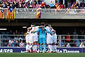 28th March 2018, Mini Estad, Barcelona, Spain; Womens Champions League football, quarter final, 2nd leg, Barcelona Women versus Lyon Women; Lyon team huddle before start the match