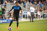 San Jose, CA - Saturday August 03, 2019: Danny Hoesen #9 in a Major League Soccer (MLS) match between the San Jose Earthquakes and the Columbus Crew at Avaya Stadium.