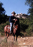 Photographer Ron Bennett on his horse,