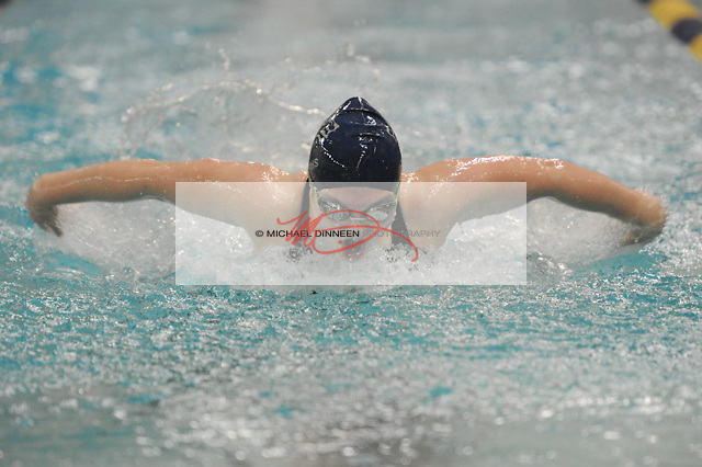 Eagle River's Gracie Keen in the  100 Butterfly at Bartlett High Saturday, Oct. 29, 2016.  Photo for the Star by Michael DInneen