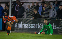 Nathan Tyson of Wycombe Wanderers reaction after missing a great opportunity during the Pre Season Friendly match between Maidenhead United and Wycombe Wanderers at York Road, Maidenhead, England on 28 July 2017. Photo by Andy Rowland.