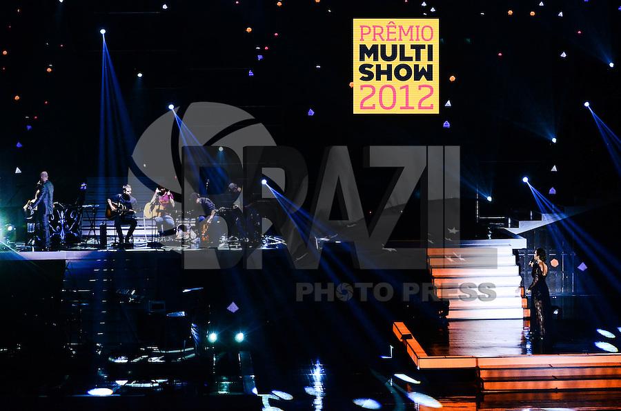 ATENCAO EDITOR: FOTO EMBARGADA PARA VEICULOS INTERNACIONAIS. - RIO DE JANEIRO, RJ,19 DE SETEMBRO 2012 - PREMIO MULTISHOW 2012- Cerimonia de entrega do Premio Multishow na noite desta terca dia 18 de setembro, no HSBC Arena, na Barra da Tijuca, zona oestedo Rio de Janeiro.(FOTO: MARCELO FONSECA / BRAZIL PHOTO PRESS).