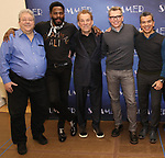 "Ron Melrose, Colman Domingo, Des McAnuff, Robert Gary, Sergio Trujillo attends the Meet & Greet for ""Summer: The Donna Summer Musical"" on March 8, 2018 at the New 42nd Street Studios,  in New York City."