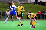 Action from the 2019 Collier Trophy Under-13 Girls' Hockey Tournament match between Auckland and Taranaki at National Hockey Stadium in Wellington, New Zealand on Friday, 9 October 2019. Photo: Dave Lintott / lintottphoto.co.nz