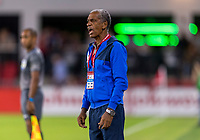 WASHINGTON, DC - OCTOBER 11: Pablo Elier Sanchez of Cuba yells to his team during a game between Cuba and USMNT at Audi Field on October 11, 2019 in Washington, DC.