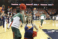Virginia dancer performs during an NCAA basketball game Saturday Feb, 24, 2014 in Charlottesville, VA. Virginia defeated Miami 65-40.