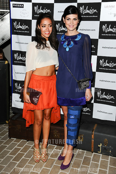 Leah Hacket and Sinead Moynihan arrives for the Malmaison Hotel Liverpool re-opening party...23/09/2011  Picture by Steve Vas/Featureflash