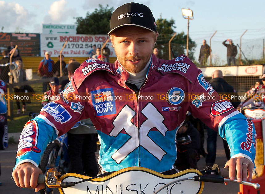 Jonas Davidsson - Lakeside Hammers vs Belle Vue Aces - Sky Sports Elite League Speedway at Arena Essex Raceway, Purfleet - 03/08/12 - MANDATORY CREDIT: Ray Lawrence/TGSPHOTO - Self billing applies where appropriate - 0845 094 6026 - contact@tgsphoto.co.uk - NO UNPAID USE.