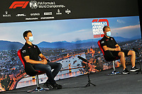 16th July 2020, Hungaroring, Budapest, Hungary; F1 Grand Prix of Hungary, drivers arrival and track inspection day;  8 Romain Grosjean FRA, Haas F1 Team, 20 Kevin Magnussen DEN, Haas F1 Team