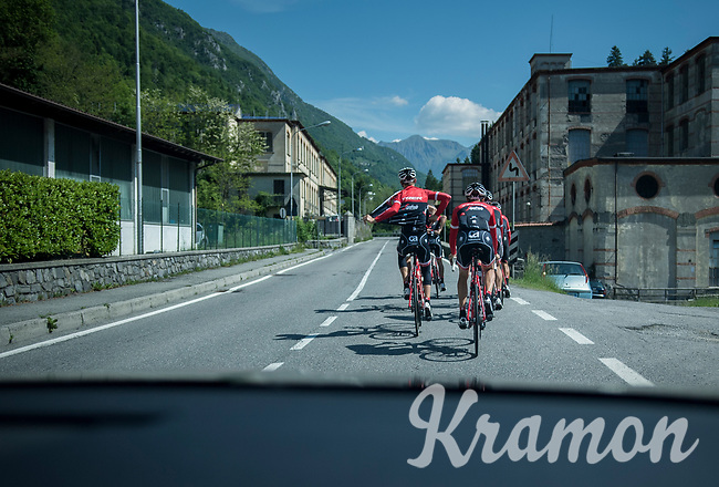restday 3 training ride with Team Trek-Segafredo<br /> 100th Giro d'Italia 2017