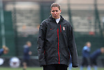 06 December 2009: Stanford assistant coach Nicole Barnhart. The University of North Carolina Tar Heels defeated the Stanford University Cardinal 1-0 at Aggie Soccer Stadium in College Station, Texas in the NCAA Division I Women's College Cup Championship game.