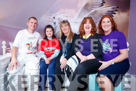 Sarah Carthy with suppliers Danny Lynch, Painter, Kate Campbell, Interior Designer, Pauline Lynch, Corcorans and Grace O'Donnell, Share a dream on Wednesday.