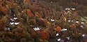20/10/12  ..Autumn colour surrounds homes in the The Village of Symonds Yat West ...Looking like a fairytale world, the autumn colours, in the Wye Valley viewed from Symonds Yat Rock, near Ross on Wye, are thought to be some of the most spectacular in Britain. The River Wye runs close to the Welsh border here as it crosses the English counties of Herefordshire and Gloucestershire...All Rights Reserved - F Stop Press.  www.fstoppress.com. Tel: +44 (0)1335 300098.Copyrighted Image. Fees charged will reflect previously agreed terms or space rates for individual publications, states or country.