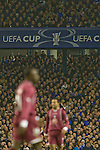 Everton 3 Larissa 1, 25/10/2007. Goodison Park, Europa League Group A. Home fans watching the action as Everton take on AE Larissa (maroon shirts) at Goodison Park, Liverpool in their UEFA Cup Group A match. Everton beat the Greek team by three goals to one on the opening night of group matches in the UEFA Cup. It was the first meeting between the two clubs. Photo by Colin McPherson.