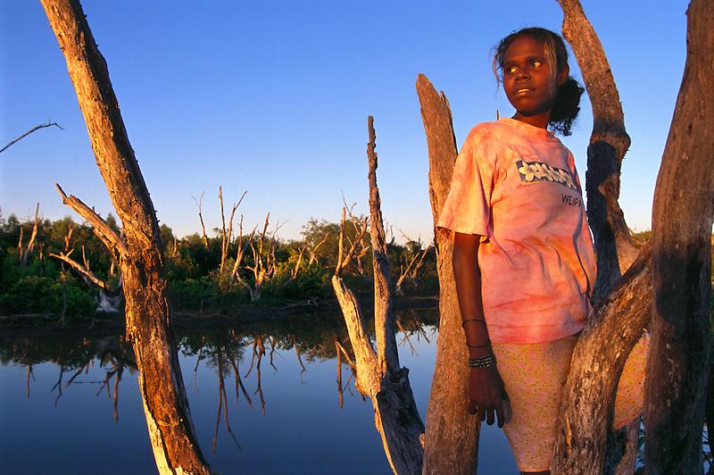 Leona Yunkaporta, Wanem Clan group, Aurukun, Cape York Peninsula.
