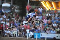 FIERLJEPPEN: IT HEIDENSKIP: Fierljepferiening It Heidenskip, 27-07-2013, NFM Nederlandse Fierljep Manifistatie, Age Hulder, ©foto Martin de Jong