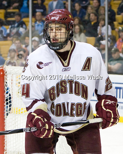 Matt Lombardi (BC - 24) - The Boston College Eagles defeated the University of Maine Black Bears 7-6 in overtime to win the Hockey East championship on Saturday, March 20, 2010, at TD Garden in Boston, Massachusetts.