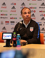 Mexico City, Mexico - Sunday June 11, 2017: Bruce Arena during a 2018 FIFA World Cup Qualifying Final Round match between the men's national teams of the United States (USA) and Mexico (MEX) at Azteca Stadium.