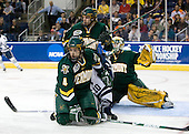 (Madore) Josh Burrows (Vermont - 22), Kevin Limbert (Yale - 10), Patrick Cullity (Vermont - 4) - The University of Vermont Catamounts defeated the Yale University Bulldogs 4-1 in their NCAA East Regional Semi-Final match on Friday, March 27, 2009, at the Bridgeport Arena at Harbor Yard in Bridgeport, Connecticut.