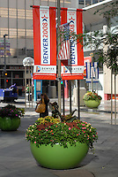 24 Aug 08: Signage announces the 2008 Democratic National Convention on the 16th street mall in Denver ,Colorado.