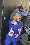 A Japanese impression actress dressed as Hilary Clinton.