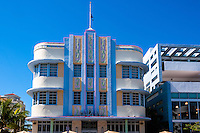 US, Florida, Miami Beach. Art Deco, The Marlin Hotel, Collins Ave.