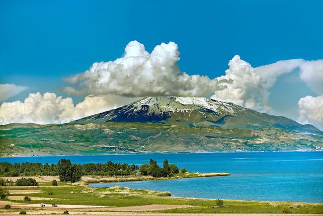 Mount Süphan  , the second highest Volcano in Turkey After Arat at 4058m. North Shore of Lake Van, Turkey 4