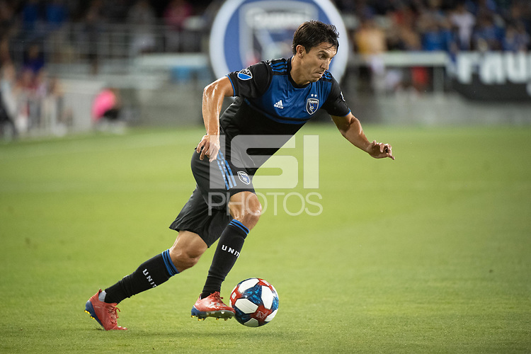 San Jose, CA - Saturday August 03, 2019: Shea Salinas #6 in a Major League Soccer (MLS) match between the San Jose Earthquakes and the Columbus Crew at Avaya Stadium.