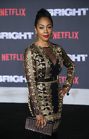 WESTWOOD, CA - DECEMBER 13: Nia Jervier, at Premiere Of Netflix's 'Bright' at The Regency Village Theatre, In Hollywood, California on December 13, 2017. Credit: Faye Sadou/MediaPunch /NortePhoto.com NORTEPHOTOMEXICO