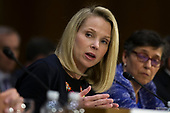 Marissa Mayer, the former Chief Executive Officer of Yahoo, during a hearing entitled 'Protecting Consumers in the Era of Major Data Breaches' before the Senate Commerce, Science, and Transportation Committee on Capitol Hill in Washington, D.C. on November 8th, 2017. Credit: Alex Edelman / CNP
