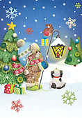Sharon, CHRISTMAS ANIMALS, WEIHNACHTEN TIERE, NAVIDAD ANIMALES, GBSS, paintings+++++,GBSSC50XJ9,#XA#