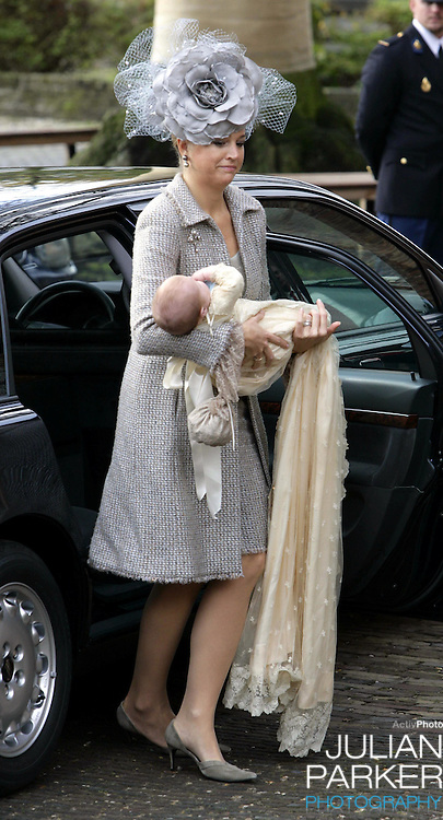 Crown Prince Willem-Alexander & Crown Princess Maxima attend the Christening of Princess Alexia of the Netherlands at the Dorpskerk in Wassenaar..