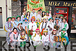 Members of CCE Barr na Sráide pictured here outside Mike Murts Bar in Cahersiveen on St Stephens Day as they prepared to take their music and dance on tour throughout South Kerry on 'The Wern', for the first time in many years.