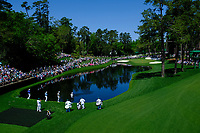 Lucas Bjerregaard (DEN) centre on the 16th tee during Wednesdays preview at the The Masters , Augusta National, Augusta, Georgia, USA. 10/04/2019.<br /> Picture Fran Caffrey / Golffile.ie<br /> <br /> All photo usage must carry mandatory copyright credit (&copy; Golffile | Fran Caffrey)