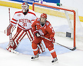 Kieran Millan (BU - 31), Sergio Somma (Ohio State - 44) - The Boston University Terriers defeated the Ohio State University Buckeyes 8-3 in the 2009 Northeast Regional Semifinal on Saturday, March 28, 2009, at the Verizon Wireless Center in Manchester, New Hampshire.