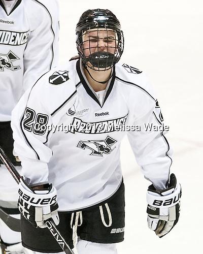 Beth Hanrahan (PC - 28) - The Northeastern University Huskies defeated the visiting Providence College Friars 8-7 on Sunday, January 20, 2013, at Matthews Arena in Boston, Massachusetts.