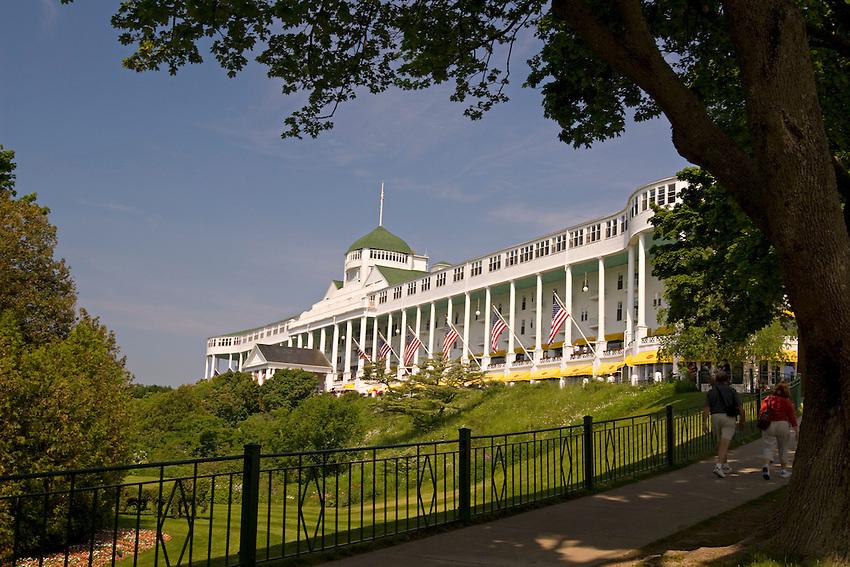 The Grand Hotel on Mackinac Island in Michigan.