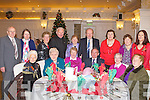 CHRISTMAS PARTY: Enjoying a great time at the Currow-Currans Christmas Party at the Earl of Desmond hotel on Sunday seated l-r: Kitty O'Leary, Kitty O'Sullivan, Joan Finnerty, Jack Finnerty, Peggy Finnerty and Bridie Daly. Back l-r: Tadhg Walsh, Rita O'Leary, Sheila Daly, John Daly, Eileen Mullane, Mossie Mullane, Sheila McSweeney, Christine McSweeney and Catherine McSweeney.