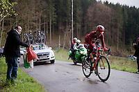 Tiago Machado (POR/Katusha) struggling up the Col du Rosier<br /> <br /> 102nd Li&egrave;ge-Bastogne-Li&egrave;ge 2016