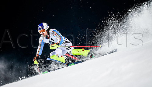 26.01.2016. Schladming, Ausria. FIS Mens Downhill slalom, Schladming World Cup. Fritz Dopfer of Germany competes during his 1st run of men s Slalom Race of Schladming FIS Ski Alpine World Cup at the Planai in Schladming, Austria on 2016/01/26.