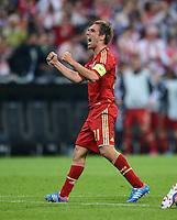 FUSSBALL   SAISON 2011/2012   CHAMPIONS LEAGUE FINALE FC Bayern Muenchen - FC Chelsea  19.05.2012 Philipp Lahm (FC Bayern Muenchen) jubelt nach dem Tor zum 1:0