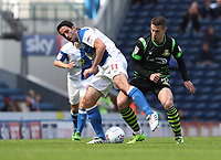Blackburn Rovers' Peter Whittingham is tackled by Doncaster Rovers' Tommy Rowe<br /> <br /> Photographer Rachel Holborn/CameraSport<br /> <br /> The EFL Sky Bet League One - Blackburn Rovers v Doncaster Rovers - Saturday August 12th 2017 - Ewood Park - Blackburn<br /> <br /> World Copyright &copy; 2017 CameraSport. All rights reserved. 43 Linden Ave. Countesthorpe. Leicester. England. LE8 5PG - Tel: +44 (0) 116 277 4147 - admin@camerasport.com - www.camerasport.com
