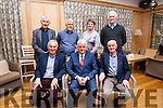 Joe Moriarty and John O'Callaghan seated with Tony Barrett. At the back Eugene MacSweeney, Johnny (Prridge) O'Connor, Ann Marie Cotter and Pat Landers at the Joe Moriarty/John O'Callaghan retirement party in the Ballygarry Hotel on Friday last.