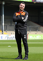 Blackpool First-Team Analyst Nathan Salmon looks on <br /> <br /> Photographer David Shipman/CameraSport<br /> <br /> The EFL Sky Bet League One - Scunthorpe United v Blackpool - Friday 19th April 2019 - Glanford Park - Scunthorpe<br /> <br /> World Copyright © 2019 CameraSport. All rights reserved. 43 Linden Ave. Countesthorpe. Leicester. England. LE8 5PG - Tel: +44 (0) 116 277 4147 - admin@camerasport.com - www.camerasport.com
