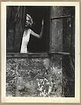 Eva at window, Vienna 1933
