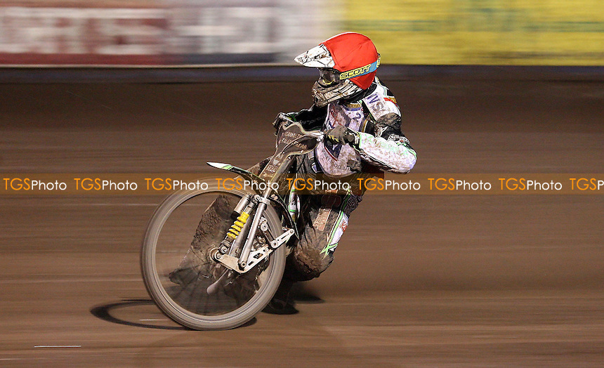 Peter Ljung of Lakeside Hammers - Lakeside Hammers vs Peterborough Panthers, Elite League Speedway at the Arena Essex Raceway, Purfleet - 06/09/10 - MANDATORY CREDIT: Rob Newell/TGSPHOTO - Self billing applies where appropriate - 0845 094 6026 - contact@tgsphoto.co.uk - NO UNPAID USE.